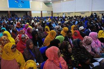 Вновь избранные члены Федерального парламента Сомали. Фото ООН