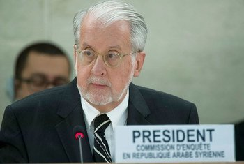 Le Président de la Commission d'enquête internationale indépendante sur la Syrie, Paulo Sergio Pinheiro. Photo ONU/Jean-Marc Ferré