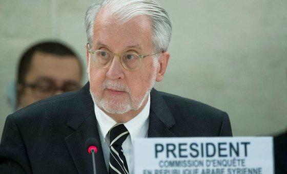 Presidente da Comissão Internacional de Inquérito sobre a Síria, Paulo Sérgio Pinheiro