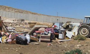 Demolition of Palestinian property in North 'Anata, West Bank, July 2016.