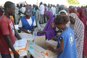 Ngala, Etat de Borno: Plus d'un million de personnes ont reçu une aide alimentaire vitale ou un soutien nutritif de la part du PAM dans le nord-est du Nigéria en décembre 2016.