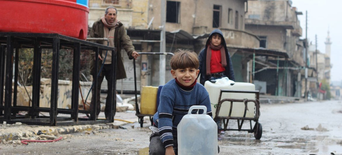 Syria Un Provides Emergency Water Around Aleppo As 1 8 Million Cut