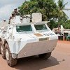 Moroccan peacekeepers serving with the UN Multidimensional Integrated Stabilization Mission in the Central African Republic (MINUSCA).