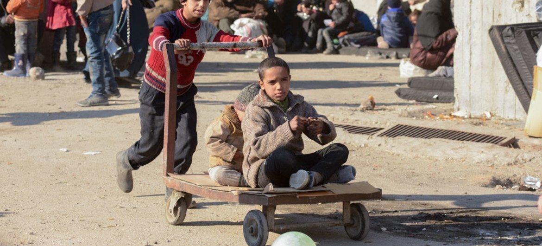 Дети играют на улицах Алеппо. Фото ООН
