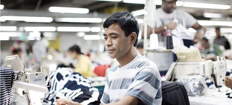 Des travailleurs migrants en Jordanie. Les migrants sont un remarquable moteur de croissance, rappelle l'ONU.
