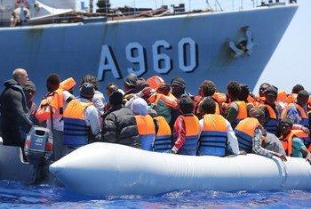 Migrants secourus en Méditerranée au large de la Sicile, en Italie (archives).
