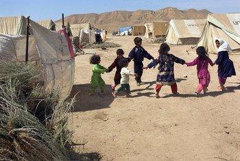 Campo de deslocados internos na província de Sar-e-Pul, no Afeganistão.