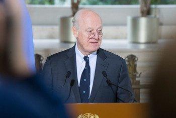 Staffan de Mistura, enviado especial de la ONU para Siria, asistirá a las conversaciones de Astana. Foto: ONU/Violaine Martin