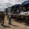 Cargamento humanitario del Programa Mundial de Alimentos en Haití. Foto de archivo: MINUSTAH/Logan Abassi