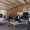 Lango la wodi ya dharura katika Hospitali ya Dhamar, Yemen