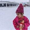 Niña siria en un centro de refugiados y migrantes en la ex República Yugoslava de Macedonia. Foto: UNICEF/Tomislav Georgiev