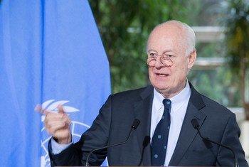 المبعوث الخاص للأمين العام المعني بسوريا ستيفان دي مستورا. المصدر: الأمم المتحدة / فيولن مارتن (أرشيف)
