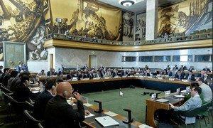 La Conférence sur le désarmement au Palais des Nations, à Genève. (Archive - session 2017)