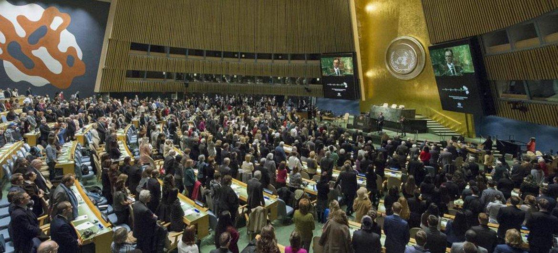 Vista de la Asamblea General de la ONU. Foto: ONU/Manuel Elias