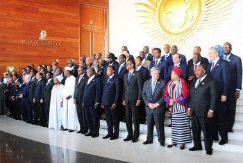 古特雷斯秘书长出席非盟峰会。联合国图片/Antonio Fiorente