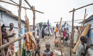 Des conditions de vie surpeuplées sur le site de protection des civils de l'ONU, à Malakal, Sau oudan du Sud.