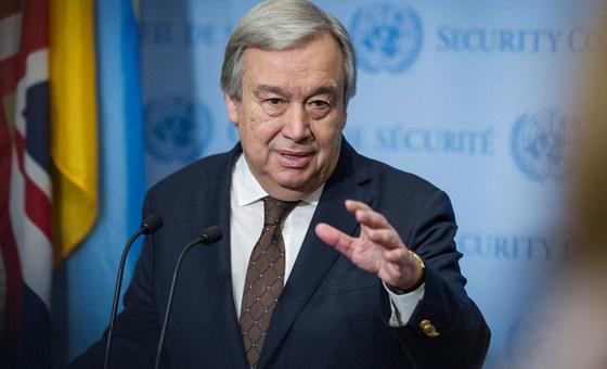 Guterres destacaa meta de dar passos concretos para uma resolução pacífica do conflito.