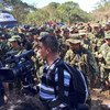 FARC women and men marched to Pondores, Colombia, where laying down of arms took place with the presence of the UN Mission. (2 February 2017)