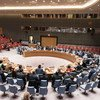 A wide view of the Security Council as it considers the situation concerning Iraq.