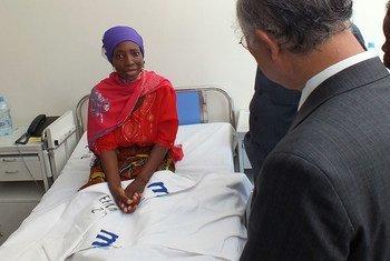 Paciente com câncer na Tanzânia