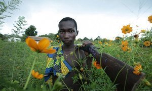Un enfant portant un fusil dans le nord-ouest de la République centrafricaine. (archive)