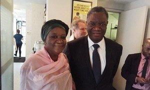 Special Representative on Sexual Violence in Conflict Zainab Hawa Bangura (left) and world-renowned surgeon Denis Mukwege.