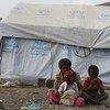 Familia desplazada por la violencia en Yemen. Foto: ACNUR/Mohammed Hamoud