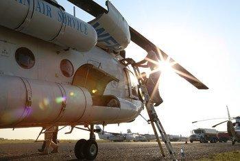 Un appareil transportant de l'aide humanitaire à l'aéroport de Juba, au Soudan du Sud. Photo OCHA
