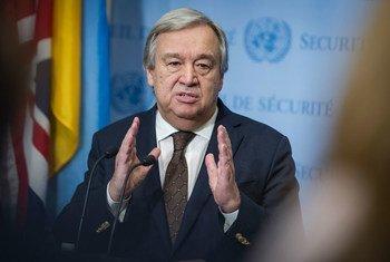 António -Guterres en la sede de la ONU. Foto de archivo: ONU/Manuel Elías
