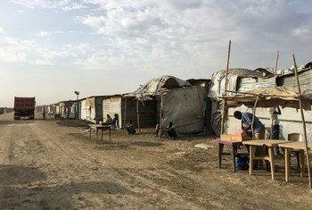 Le site de protection des civils de l'ONU, à Malakal, au Soudan du Sud. Photo MINUSS/Isaac Billy