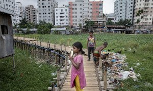 Daily life of residents living in Sujat Nagar slum in Dhaka, Bangladesh.
