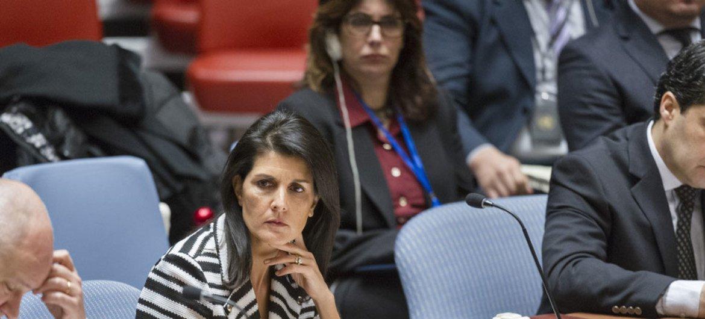 美国常驻联合国代表妮基·黑利(Nikki Haley)。