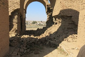 The UNESCO World Heritage site Ashur (Qal'at Sherqat) in Iraq.