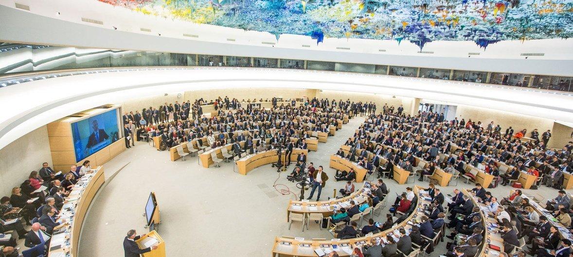 Le Conseil des droits de l'homme des Nations Unies à Genève.