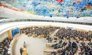 Le Conseil des droits de l'homme à Genève. Photo ONU/Elma Okic
