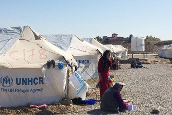 Displaced families from east Mosul shelter at the nearby Hasansham U3 camp, while Iraqi Government Forces begin operations to retake control of the west of the city.