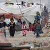 De jeunes réfugiés syriens dans un camp de fortune dans la vallée de la Bekaa, au Liban.
