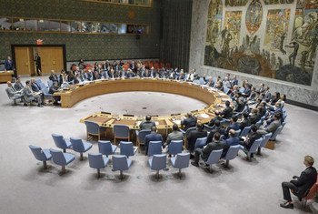 The Security Council voting on a draft resolution aiming to impose sanctions on Syria for the use of chemical weapons. The draft text failed to be adopted due to the negative votes by two permanent members of the Council (China, Russian Federation).