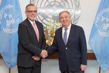 Iván Velásquez, comisionado de la CICIG, y António Guterres, Secretario General de la ONU. Foto de archivo: ONU/Eskinder Debebe