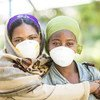 Two women who are undergoing treatment for multidrug-resistant tuberculosis in Addis Ababa, Ethiopia.