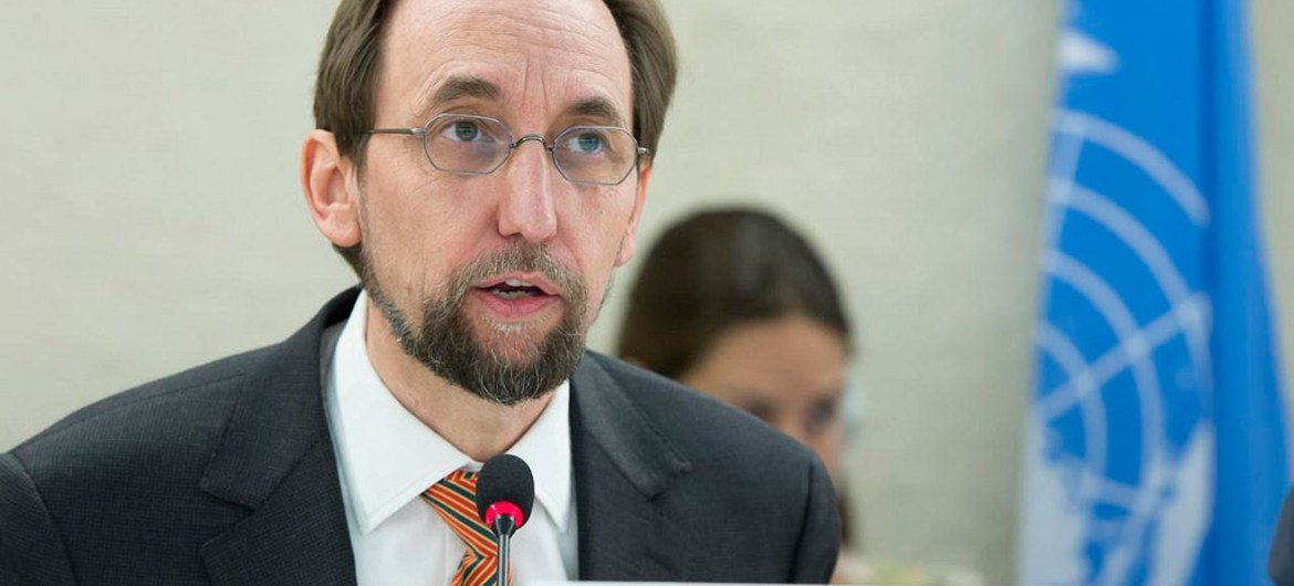 High Commissioner for Human Rights Zeid Ra'ad Al Hussein, at a panel discussion on the death penalty and the prohibition of torture and other cruel, inhuman or degrading treatment or punishment, at the 34th Session of the Human Rights Council. 1 March 2017.