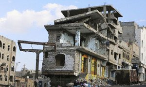 Much of Taiz, Yemen,  has been destroyed by two years of fierce fighting.