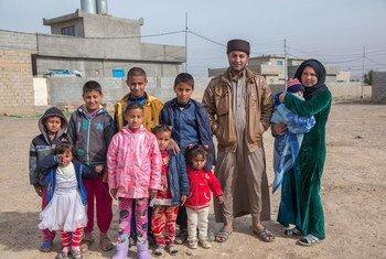 Familia desplazada proveniente de Mosul, Iraq, en la ciudad de Kirkuk. Foto: UNICEF/UN051100/Anmar