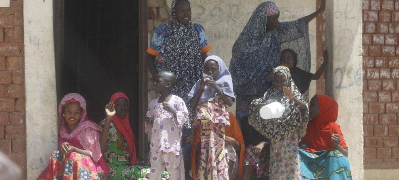 Внутренне перемещенные лица  в одной из деревень штата Борно.  Фото Миссии  Великобратии