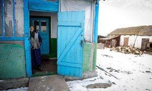 Les personnes âgées sont durement frappées par le conflit dans l'est de l'Ukraine. Photo OIM/ONU/Volodymyr Shuvayev