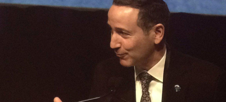 روبرت غلاسر، رئيس مكتب الأمم المتحدة للحد من مخاطر الكوارث المنتدى الإقليمي الخامس للحد من مخاطر الكوارث في الأمريكتين، في مونتريال، كندا. صور: UNISDR