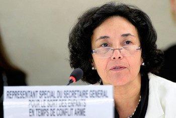 Leila Zerrougui, lorsqu'elle était Représentante spéciale du Secrétaire général sur la question des enfants dans les conflits armés. Photo ONU/Jean-Marc Ferré