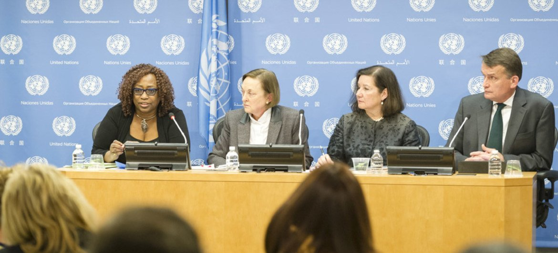 《防止性剥削和性虐待的特别措施:新办法》报告发布会在纽约联合国总部举行。联合国图片/Rick Bajornas