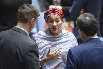 Vice-secretária-geral da ONU, Amina Mohammed.