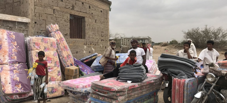 Desplazados de Al Mokha, en Yemen. Foto de archivo: ACNUR/Shabia Mantoo